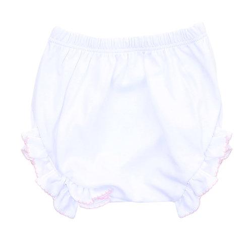 Essentials Monogram Diaper Cover White Pink