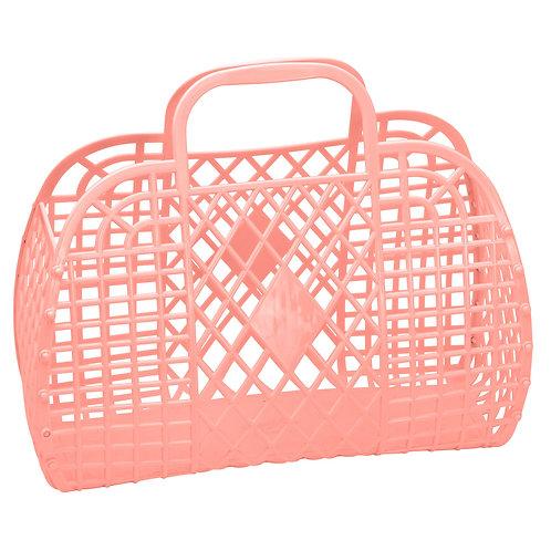 Peach Large Retro Basket