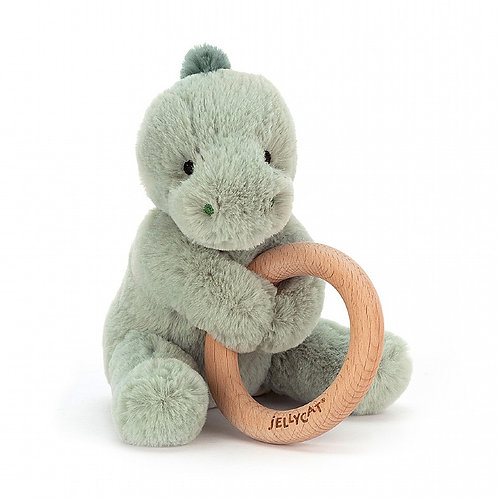 Puffles Dino Wooden Ring Toy