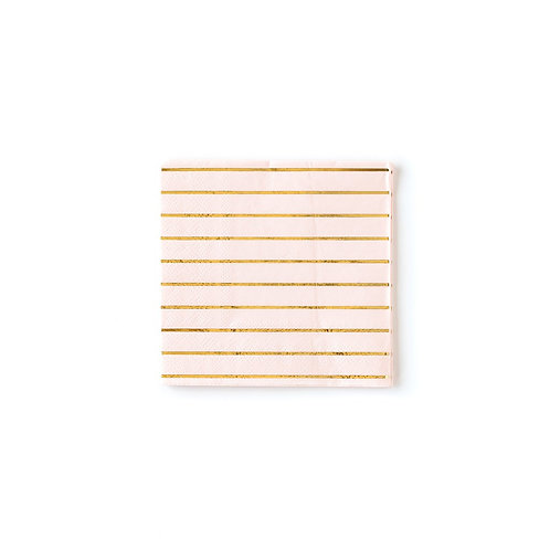 Blush Striped Basic Napkins