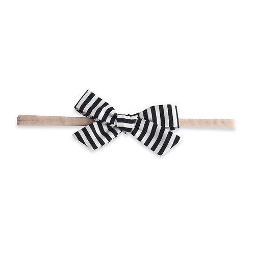 Black Stripe Bow