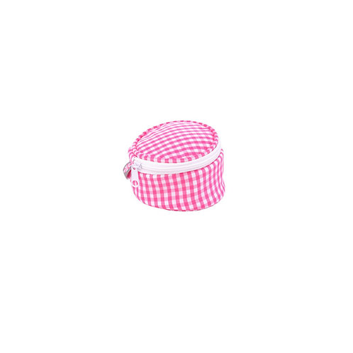 7 cm Hot Pink Gingham Mini Button