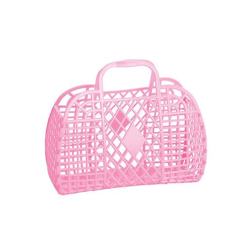 Bubblegum Pink Small Retro Basket