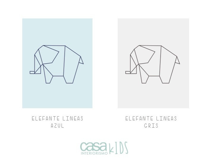 Elefante lineas