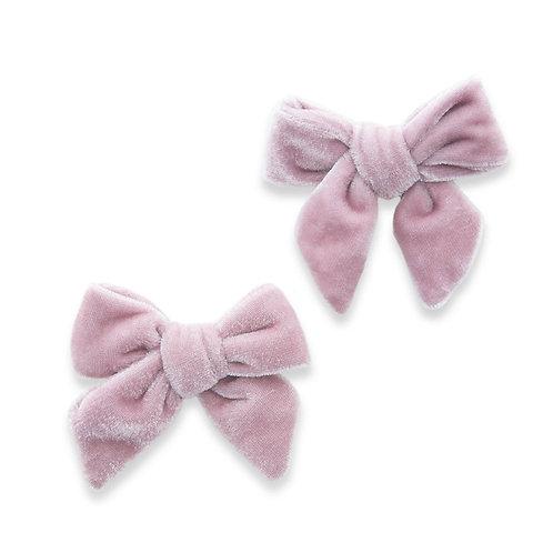 Rose Velvet Bow Clip