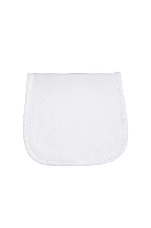 White Basket Weave Burp Cloth