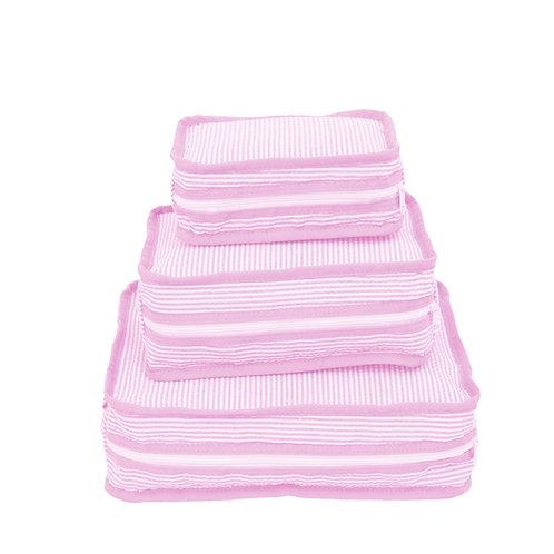 Pink Seersucker Stacking Set