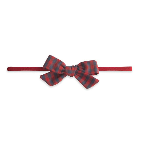 Red Charcoal Check Bow