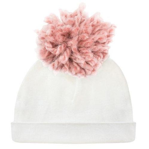 Hat Yarn Pom Blush Cream