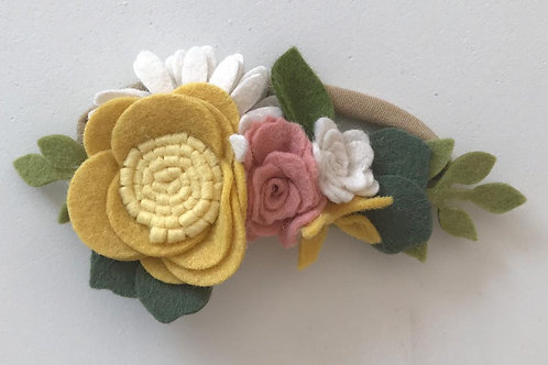 Bandita Fieltro Amarilla-Rosa