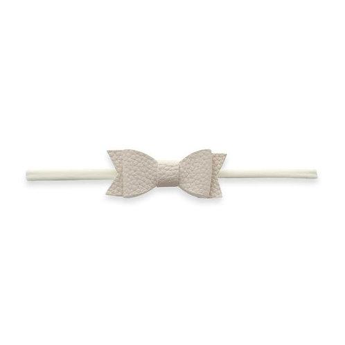 Ivory Leather Bow