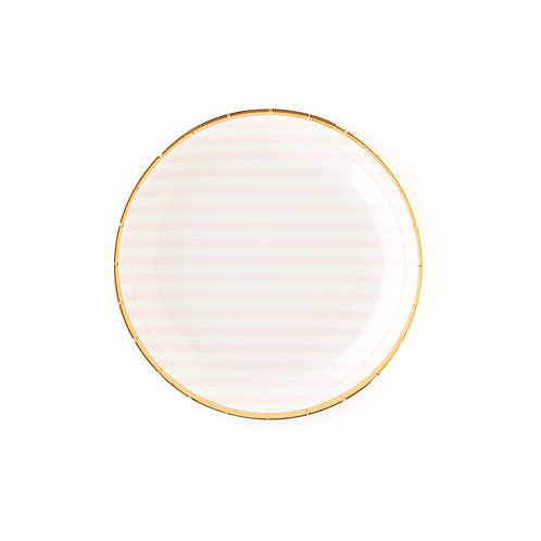 To Be Pink Striped Plate