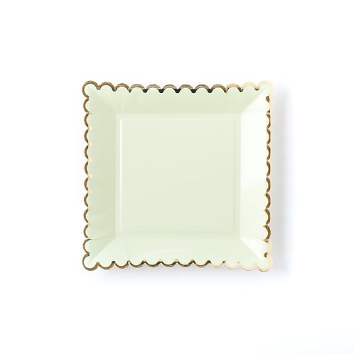 Mint Scalloped Plate