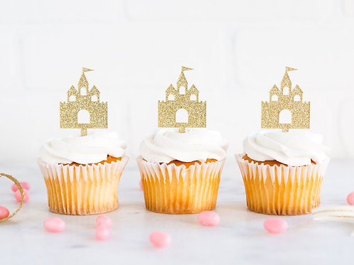 Princess Castle Cupcake Topper