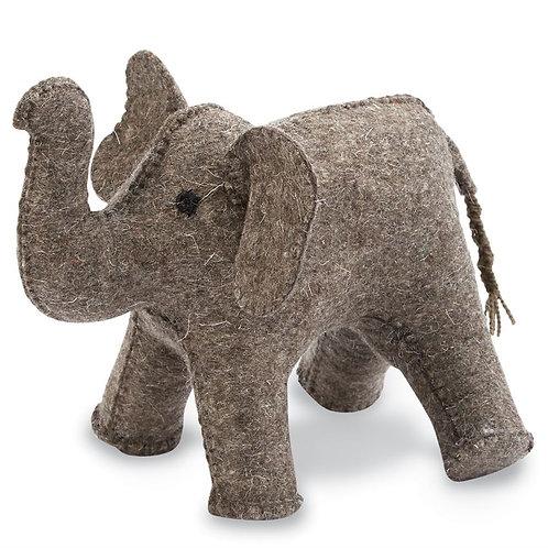 Felt Elephant Bookend