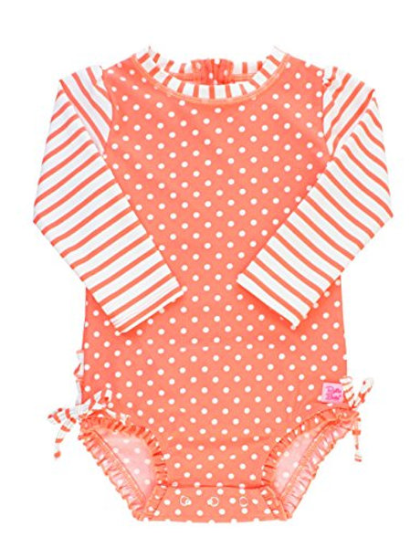 Coral Polka One Piece Rash Guard