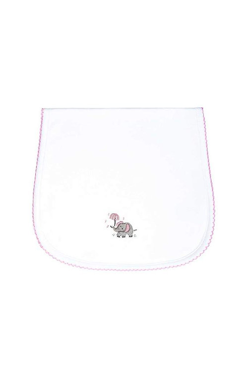 Elephant Pink Burp Cloth