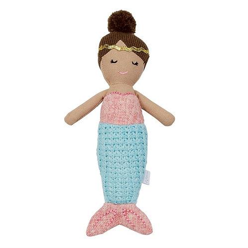 Blue Tail Mermaid Rattle