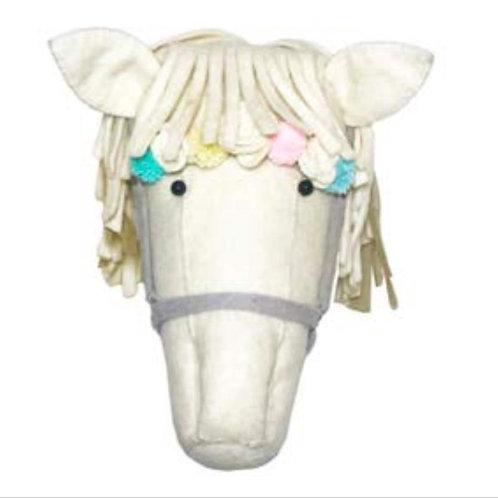 Cream Horse w/PomPoms
