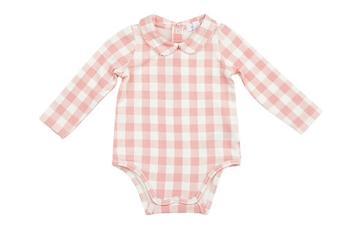 Gingham Pink Peter Pan Collar