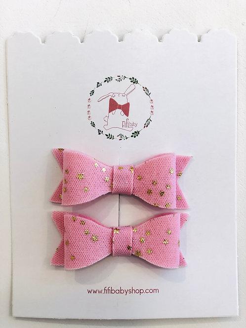 Par de Moñitos Baby Pink