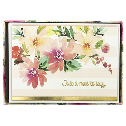 Floral Watercolor Boxed Card
