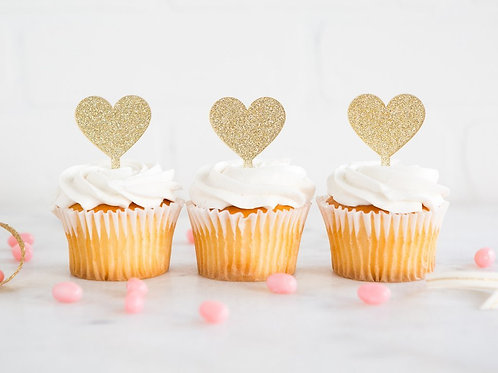 Princess Heart Cupcake Topper