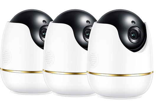 Smarte Indoor Überwachungskamera: WP-C512W4 - 3er Set