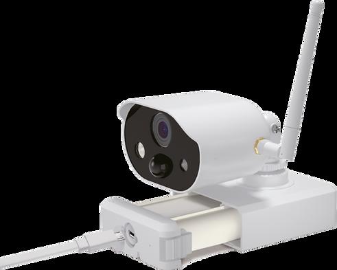 Überwachungskamera aufladen