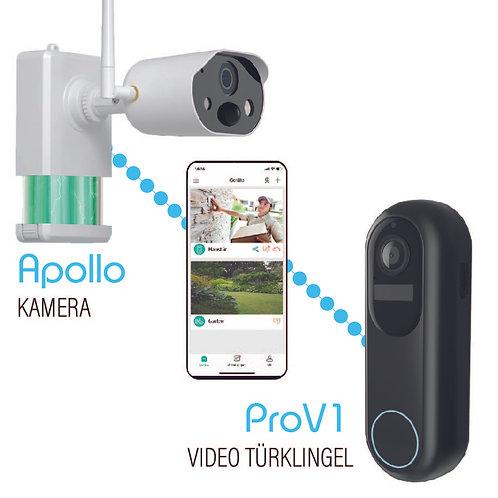 Sicherheitsset ( Apollo Überwachungskamera + ProV1 Video Türklingel)