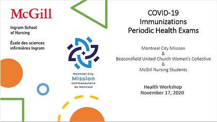 COVID-19 Immunizations Periodic Health E