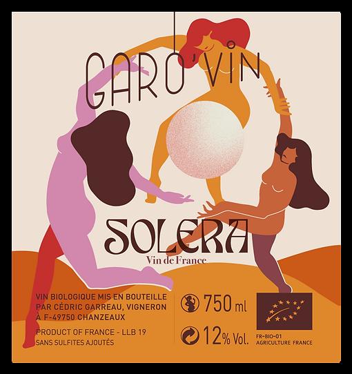 Solera, étiquette, illustration, étiquette de vin, matisse, dance, danse, coven, femmes, soleil, cuvée, vin naturel, vin bio, angers, chemillé, chenin