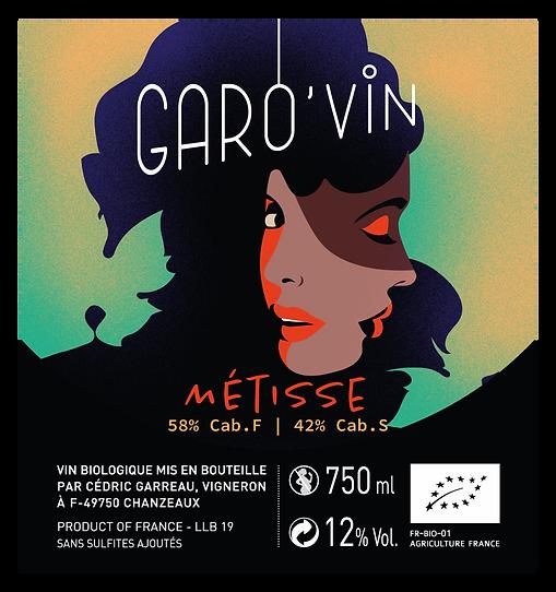 métisse, étiquette de vin, nelly garreau, graphiste, illustrateur, visages, superposition, vin naturel, angers, cabernet, sauvignon, vigneron, chanzeaux