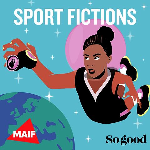 sport fiction, Maif, vignette podcast, graphisme, graphiste, angers, illustratrice