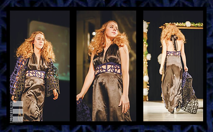 SG design evening gown Stained Glass Snowflake in The Fashion Show Iowa State University 2014