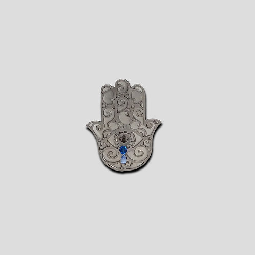 Filigree Hand of Fatima with Steel Backlay