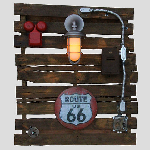 Route 66 Light, hanging Wall Art