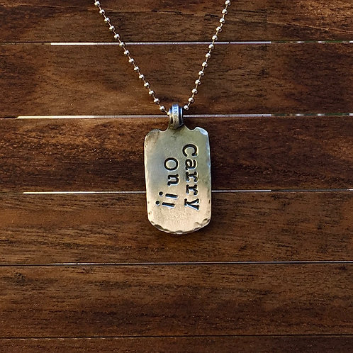 Carry On!! Dog Tag - Necklace
