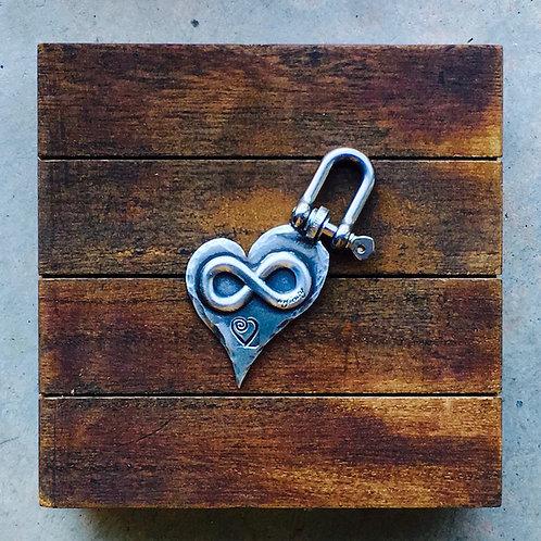Infinity Heart Keychain.