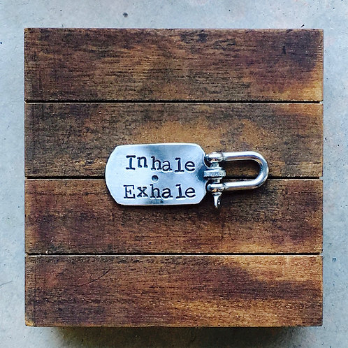 Inhale • Exhale - Dog Tag