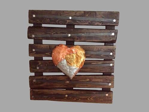 Pallet Wooden Note Display