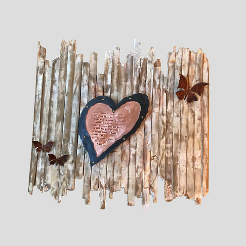 Heart & Butterflies on Picket