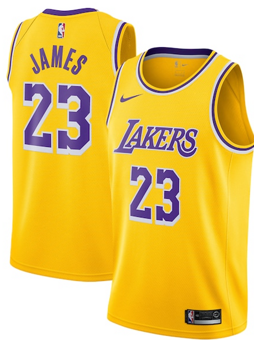 Los Angeles Lakers Nike Icon Swingman Jersey - Lebron james