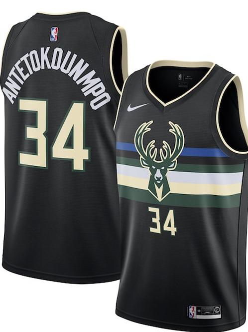 Milwaukee Bucks Nike Statement Swingman Jersey - Giannis Antetokounmpo - Mens