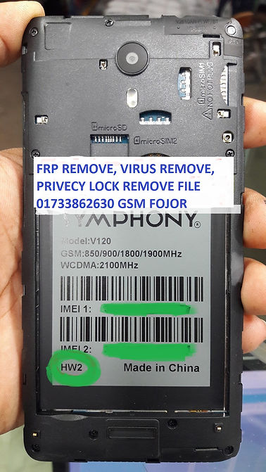 SYMPHONY V120 HW2 MT6580 7 0 FLASH FILE FRP LOCK REMOVE 100