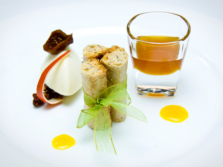 Baklava Rolls with Figs Honey Syrup
