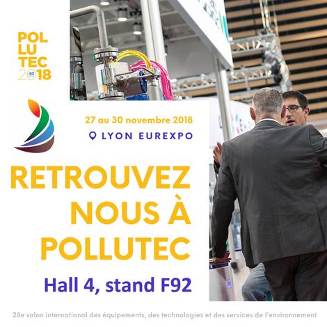 Retrouvez-nous sur le salon POLLUTEC 2018 du 27 au 30 novembre à Lyon Eurexpo sur le stand d'AXELERA