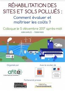 """Colloque """"Réhabilitation des sites et sols pollués : comment évaluer et maîtriser les coûts&quo"""