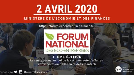 PROVADEMSE au FORUM NATIONAL DES ÉCO-ENTREPRISES - 2 avril 2020 – Ministère de l'Économie et des Fin