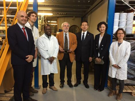 Visite de PROVADEMSE par MENG Hongwei, le nouveau président d'INTERPOL